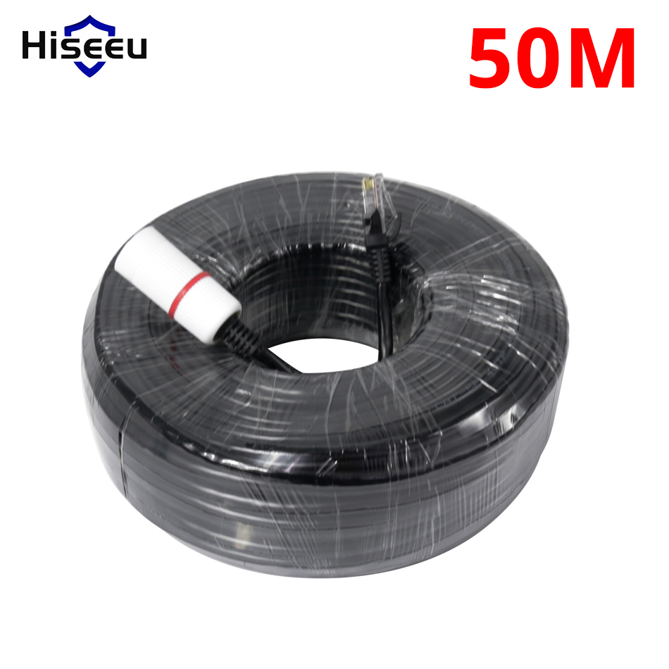 RJ45 Ethernet Cable 50M 20M For CCTV IP Camera LAN Cable 65ft 164ft CCTV System Accessories LAN Cord
