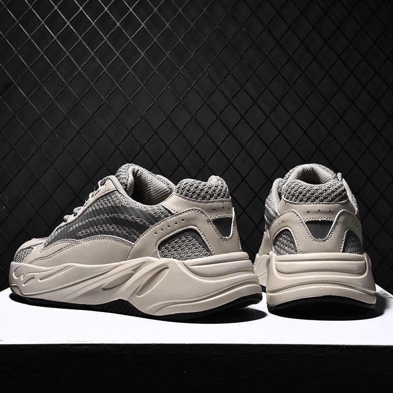 Vintage baba erkek ayakkabısı 2019 moda batı örgü hafif nefes erkekler rahat tenis ayakkabıları erkekler Sneakers Zapatos Hombre Z040