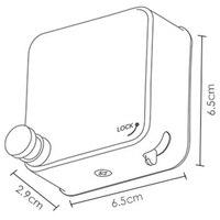 נירוסטה Invisible טלסקופי כביסה אמבטיה מרפסת קיר תלייה נשלף קו בגדי ייבוש מדף-בחבלי כביסה מתוך בית וגן באתר