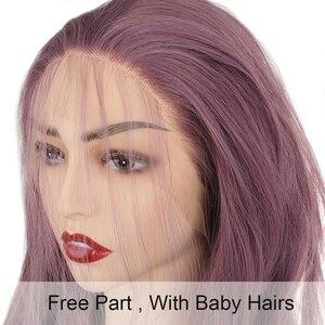 Image 2 - Leeven 24 ורוד סגול נחושת סינטטי תחרה מול פאה ארוך גלי פאות לאישה 613 בלונד זנגביל פאת perruque נשי שיער