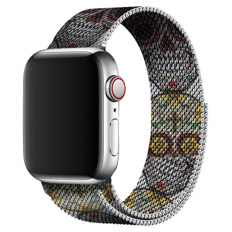 Milanese Loop Band 44mm 40mm Skull Design For Apple Watch Series 4 Metal Bracelet Stainless Steel Strap For i Watch