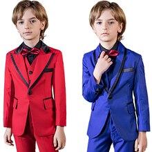 YuanLu 5PCS Kids Suit Classic Blazer Jacket Formal Costume T