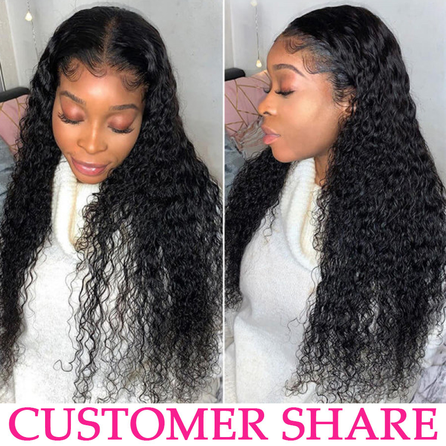 Deep Wave Wig Lace Front  Wigs  Hd Transparent Lace Frontal Wig  Bob Water Wave Full Lace Wig 4