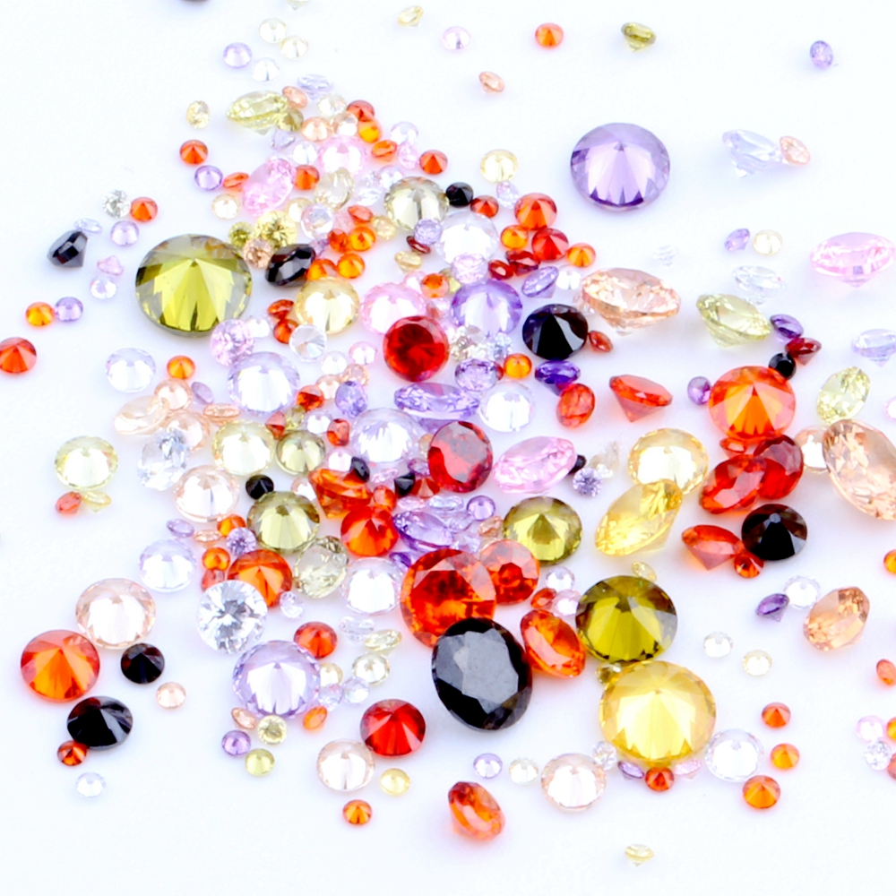 50 X 4MM CUBIC ZIRCONIA SEW ON JEWELS BUTTONS BEADS EMBELLISHMENTS CRAFT