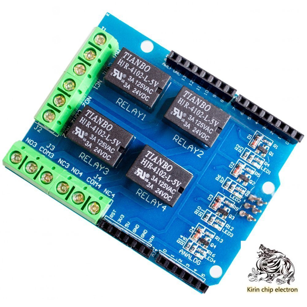 5pcs/lot 4-way 5v Relay Module, Relay Control Board Relay Expansion Board