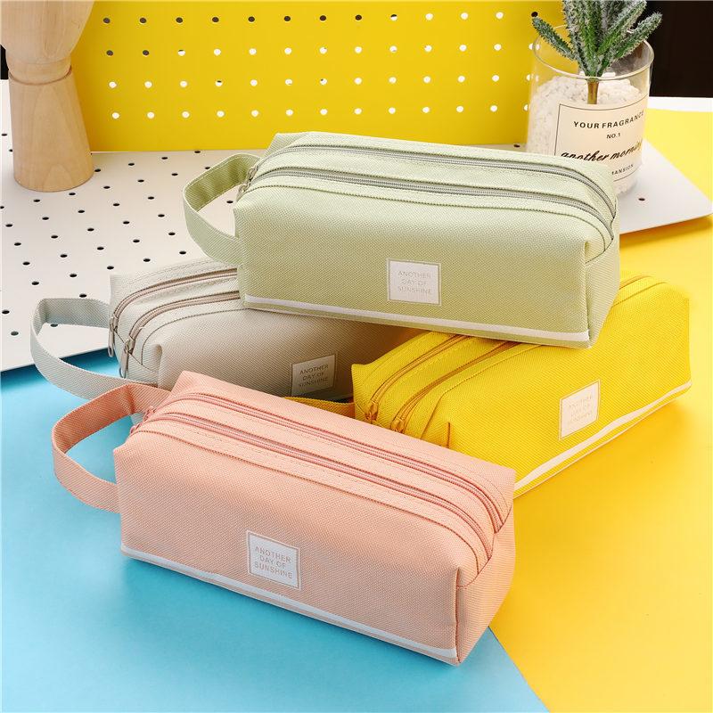 Цветной Большой Вместительный Чехол Карандаш s, креативные корейские тканевые футляры для ручек, чехол, школьные и офисные стационарные принадлежности 05089|Пеналы| | АлиЭкспресс