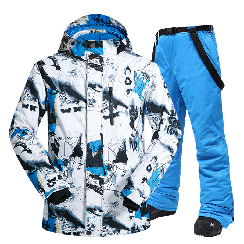 Ski Suit Men Winter New Outdoor Windproof Waterproof Thermal Snow Jacket And Pants Clothes Skiing And Snowboarding Suits Brands
