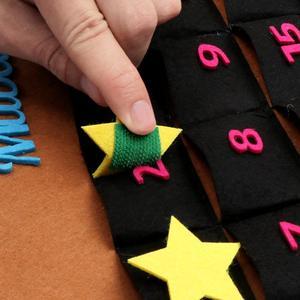 Image 5 - OurWarm EID Mubarak Calendario de fieltro DIY, pegatina de estrella dorada para colgar en la pared del hogar, Balram musulmán, fiesta de Festival de Ramadán Kareem