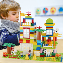 Scene Building Blocks Children Early Education Toy 184 PCS  Parent-Child Interactive Assembly Creative Toys DIY Building Blocks цена 2017