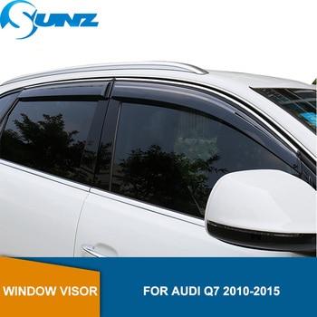 цена на Smoke Car window rain protector door visor For Audi Q7 2010 2011 2012 2013 2014 2015 window visor  Side Winodow Deflectors SUNZ