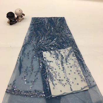 African sequin lace fabric Nigeria lace fabric bride 2020 wedding dress high quality French tulle lace fabric XX36931