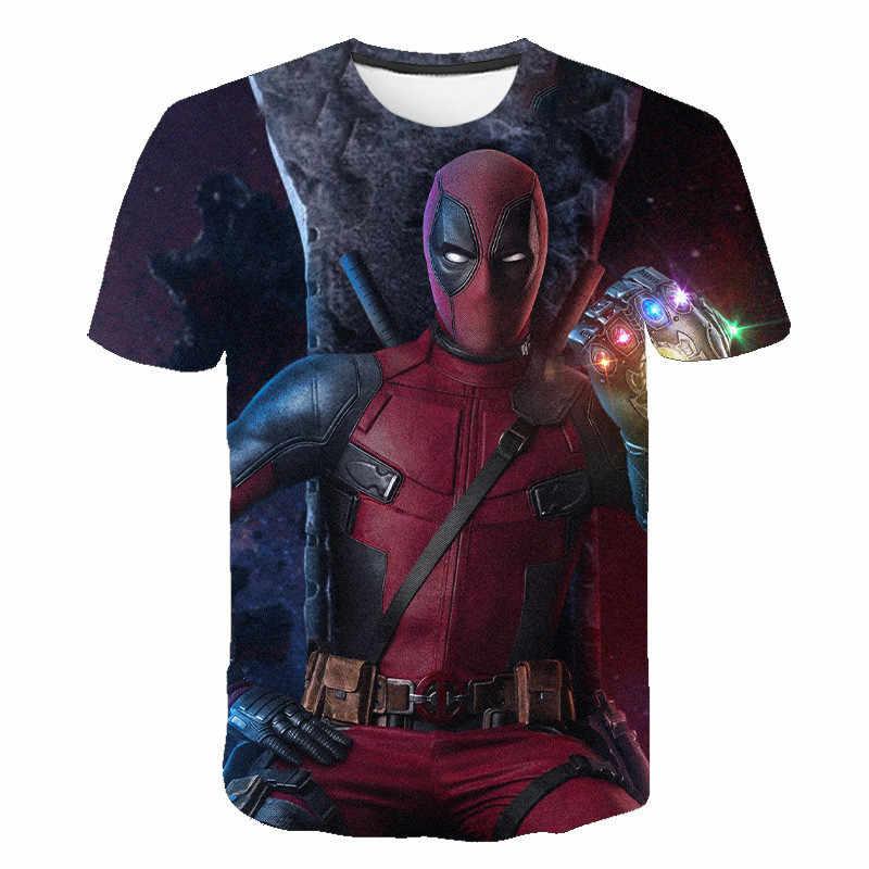 Nueva camiseta a la moda de verano en 3d para hombre, Camiseta con estampado divertido de Anime con personajes de animación Dead pool, camisetas de manga corta de alta calidad