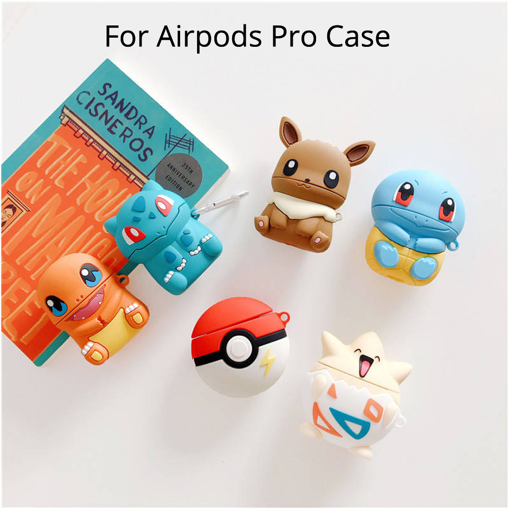 Cute Cartoon Protective Cover For Apple <font><b>Airpods</b></font> Pro <font><b>Pikachue</b></font> Togepi Squirtle Bluetooth Earphone Wireless Headphone <font><b>Case</b></font> image