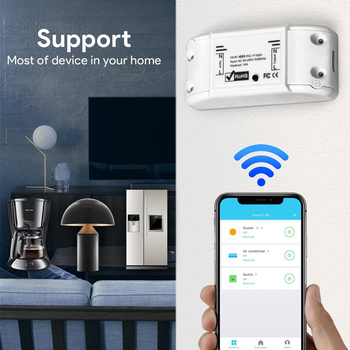 Smart Light Switch Universal DIY WiFi Breaker Timer Wireless Remote APP Control Works with Alexa Google Home Smart Home sonoff smart wifi remote control diy wireless switch universal module dc5v 12v 32v self locking wifi switch timer for smart home