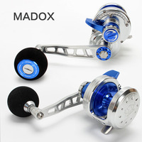 Madox Slow Jigging Reel Pe2 # 400m Max Drag 25kg 10BB High Speed G Ratio 5.3:1 420g Offshore Boat Fishing Reel Trolling Reel
