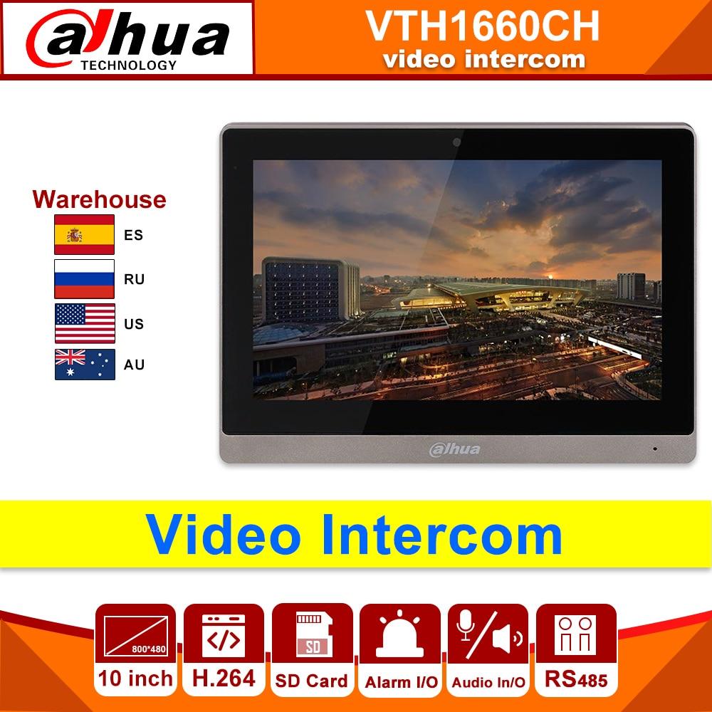 Original Dahua Video Intercom VTH1660CH Indoor Monitor 10-inch 800*480 Resilution Touch Screen Color IP Video Intercom