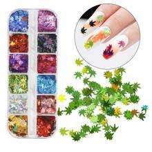 1 коробка 12 цветов набор блесток для дизайна ногтей