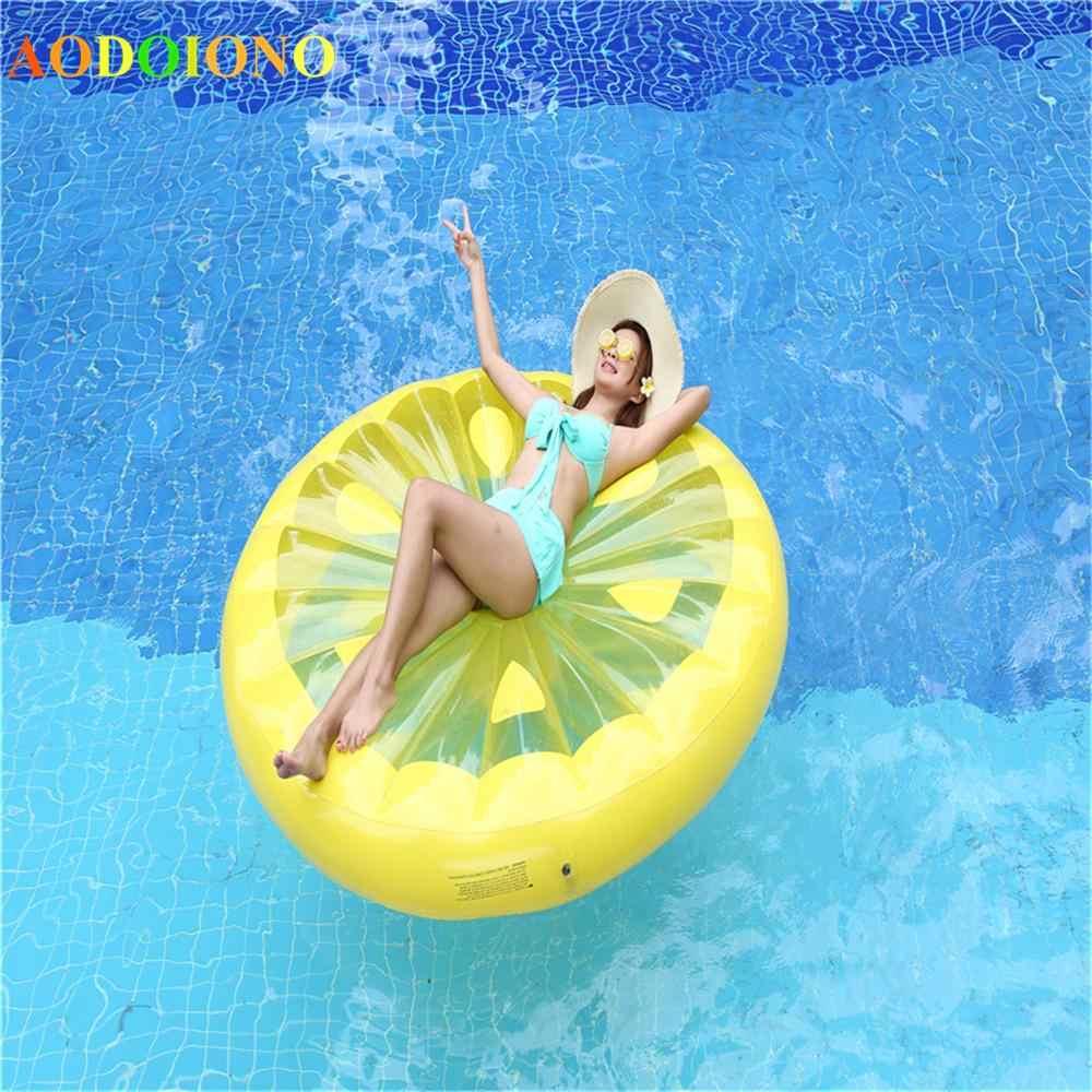 العملاق سوان البطيخ يطفو الأناناس فلامنغو طوافة بلاستيكية للسباحة يونيكورن سرير قابل للنفخ لحمامات السباحة للأطفال ألعاب مياه الكبار