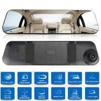 Dash Cam Mirror Car Dvr Mirror Dual Dash Camera Dual Cameras Mirror Dashcam Full HD Dashcamera In Car Video Camera Car Dvrs