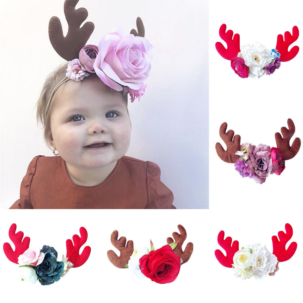 Cute Baby Toddler Infant Headband Christmas 2020 Stretch Hairband Headwear Haarband Baby Hair Accessories Bandeau Bebe Fille