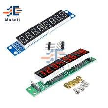 Módulo de pantalla Digital LED MAX7219, matriz de puntos LED de 8 dígitos, microcontrolador MCU de 7 segmentos, Controlador Serial de 3,3 V 5V para Arduino