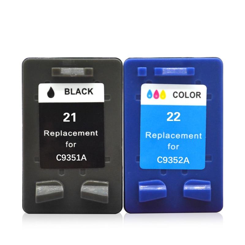 Ink Cartridges For 21 22 XL 21XL HP21XL HP21 HP22 C9351A C9352A DeskJet D2360 D2430 D2445 D2460 F2110 F2120 F2128 Printe