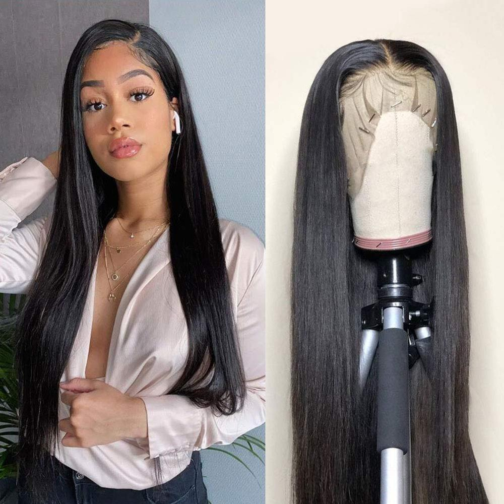Lace Front Wigs Human Hair Pre Plucked Straight Human Hair Lace Front Wigs for Black Women Natural Hairline Wigs pu silk base