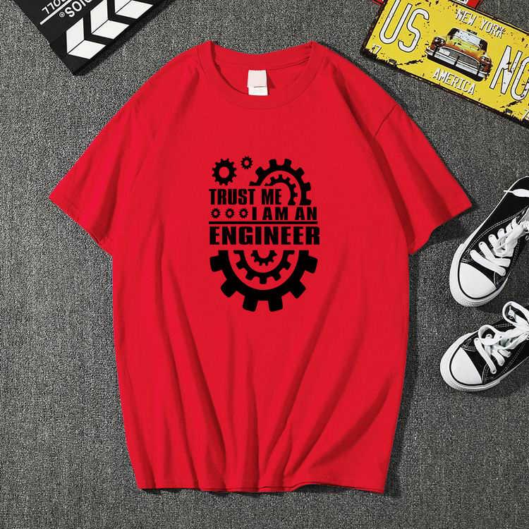 """Lato 2019 bawełniane męskie koszulki zaufaj mi, jestem inżynierem koszulki z dekoltem w kształcie litery """"o"""" topy koszulki śmieszne streetwear odzież marki camisetas"""