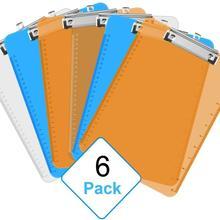 """Пластиковый буфер обмена, милая доска А4 Размер стандартный зажим прозрачный цвет офисные принадлежности зажимы обмена """" x 12,5""""(упаковка из 6"""