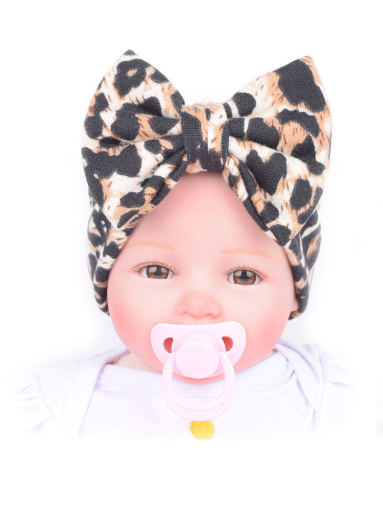 Headbands Hair-Accessories Leopard Girls Babies Children's for Baby Stretch Bow Kids