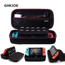 Nintendo switch estojo de proteção para viagem, bolsa de transporte em eva resistente para armazenamento de ns nintendo hdd