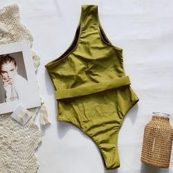 Retro wydrukowano jeden kawałki stroje kąpielowe kobiety body strąckąpielowy drążą strój kąpielowy wysokiej talii bikini lato plaża nosić wyściełane 5