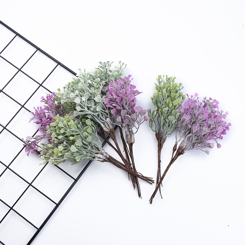 6 Pieces Artificial Plants Plastic Decorative Flowers Wedding Bridal Accessories Clearance Vases For Christmas Decorations For Home Scrapbooking Flowers Household Products Diy Gifts Box Garlands New Year Decorations
