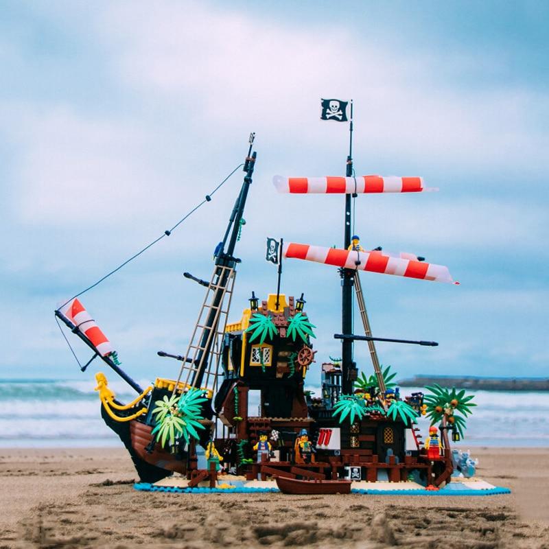 2020 New Ideas Lepining Pirates Of Barracuda Bay 21322 Ship Blocks Bricks Lepinblocks Blocks Toys Kids Birthday Gift