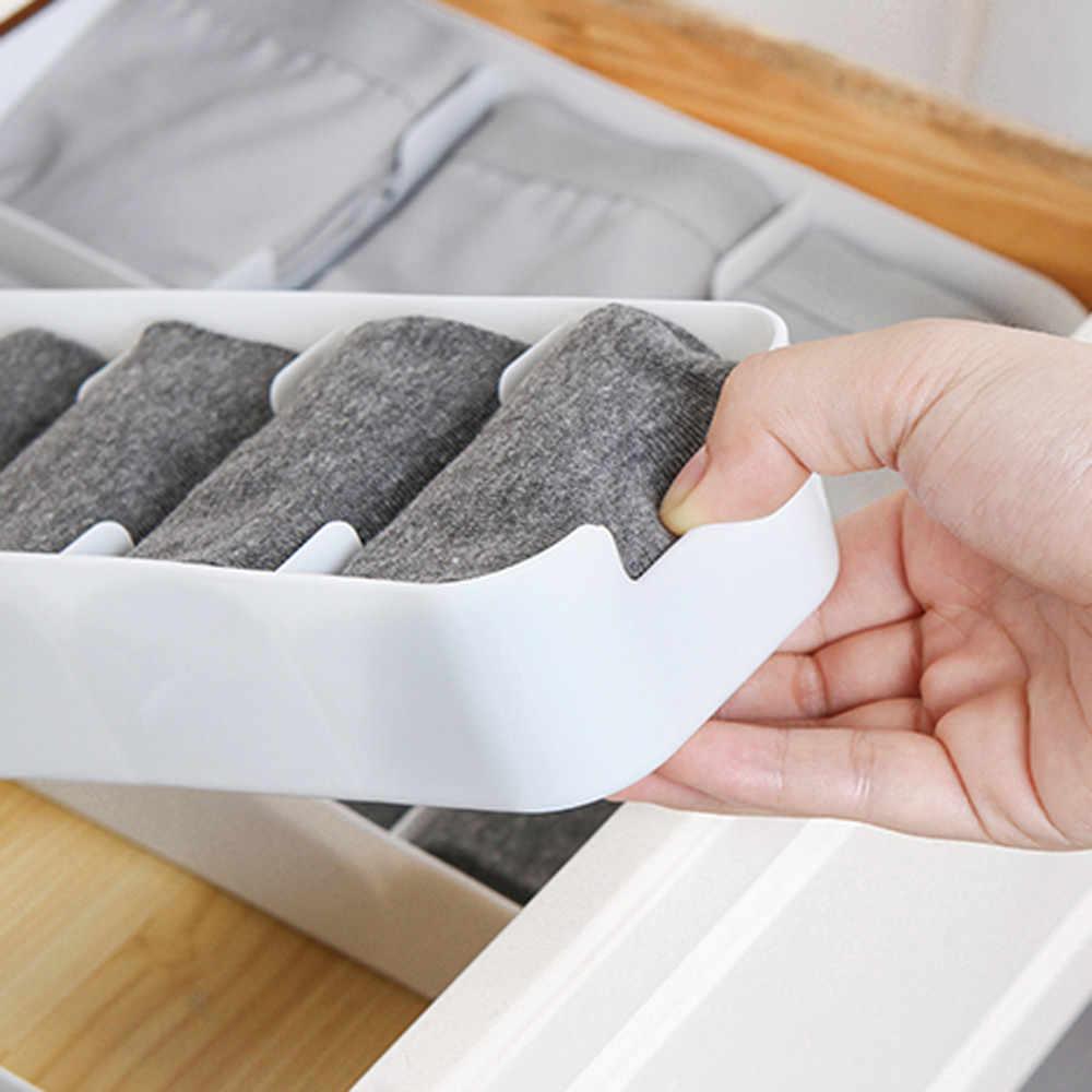 5 Grid Basket Organizer Storage Box Tie Bra Socks Divider Drawer Cosmetic Organzier Cloth Separator Kitchen Organizer Sauce Rack