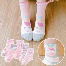 Calcetines de invierno para niña, Linda y cálida caricatura, algodón suave, calcetines para recién nacidos, moda, estampado de unicornio, rosa, 0 a 8 años calcetines mujer divertido calcetines niño calcetines invierno