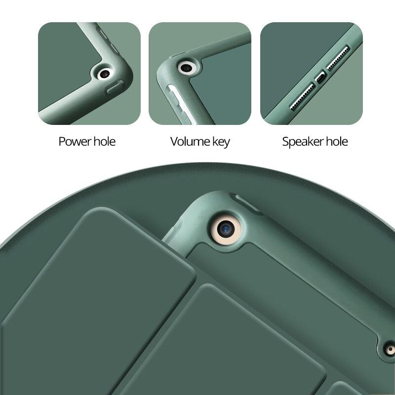 Чехол для 2019 iPad 10,2 7th 2018 2017 9,7 Mini 4 5 2020 Pro 11 10,5 Air 3 Smart Cover с карандашом держатель для iPad 5th 6th поколения-5