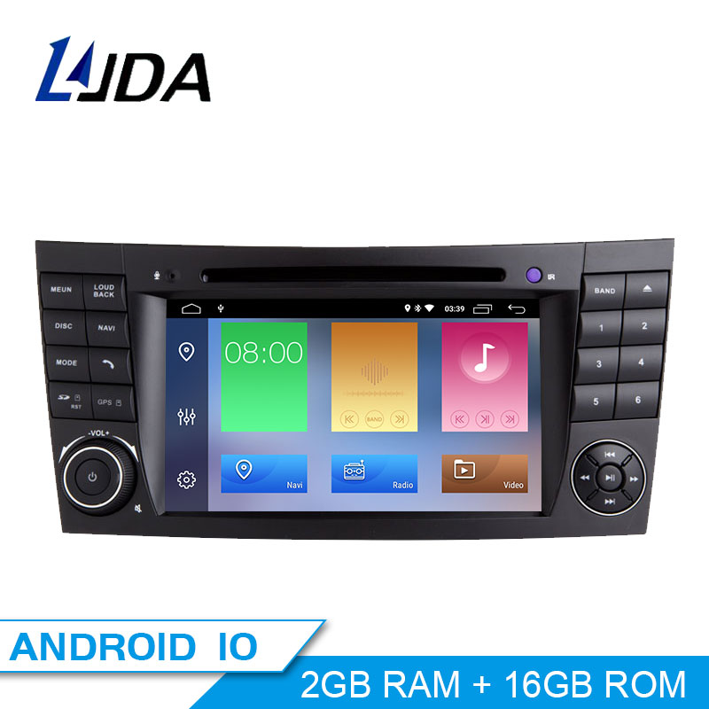 ZLTOOPAI for Mercedes Benz E Classe W211 CLS W219 Double Din Head Unit 7 Inch Capacitive Multi-Touch Screen Car Stereo GPS Radio with Free Map Card Car Rear View Camera Removal Tools Car Radio Stereo