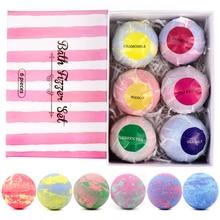 6PCS/Box Moisturizing Bath Bubble Bomb Ball Set Fragrance Relieve Stress Bath Salt Exfoliation Anti-fatigue Skin Care Products