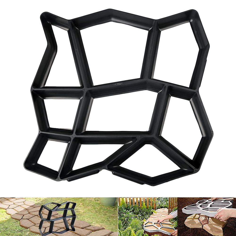 Floor Path Maker Mould Concrete Mold Reusable DIY Paving Durable For Garden Lawn (free Small Gift)