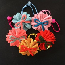 1 Pcs/lot Hair Wear Cloth Flower Headbands Lovely Accessories Bows Rope Tied Women Elastic Bands
