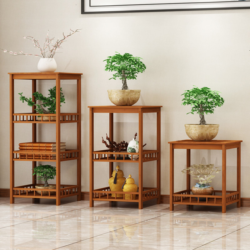 Airs Indoor A Living Room Multi-storey Balcony Shelf Chinese Style Decorate Flowerpot Frame Solid Wood Quality To Ground