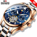 HAIQIN, мужские часы, механические мужские часы, Топ бренд, Роскошные автоматические часы, мужские золотые наручные часы, мужские турбийон, Reloj ...