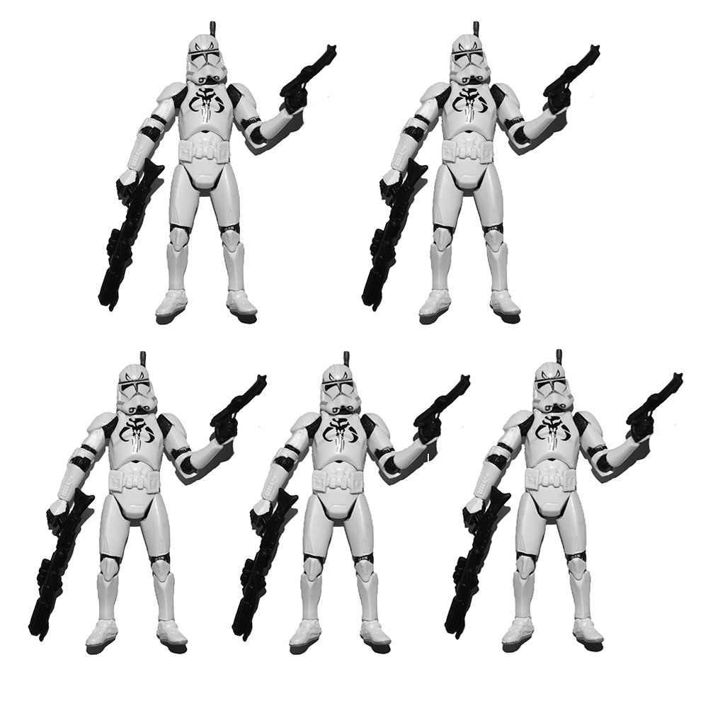 "3.75/"" Star Wars Republic Commander Gree Clone Trooper  Loose Action Figure"