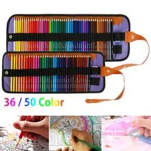 36/50 Colors Professional Oil Color Pencils Set Artist Painting Sketching Color Pencil Hand-Painted School Office Art Supplies