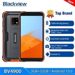 Blackview BV4900 смартфон MT6761V 4 ядра 3 ГБ + 32 ГБ 5580 мА/ч, IP68 Водонепроницаемый Android 10 4 аппарат не привязан к оператору сотовой связи мобильный телефон ...
