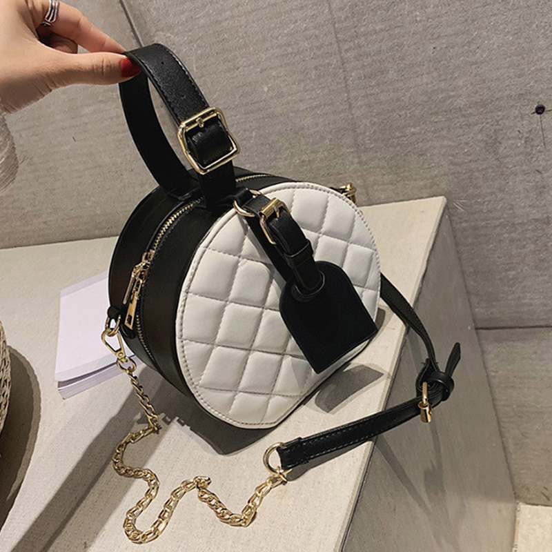 Crossbody Bags For Women 2019 PU Leather Famous Brand Small Round Bag Luxury Handbags Fashion New Designer Ladies Shoulder Bags