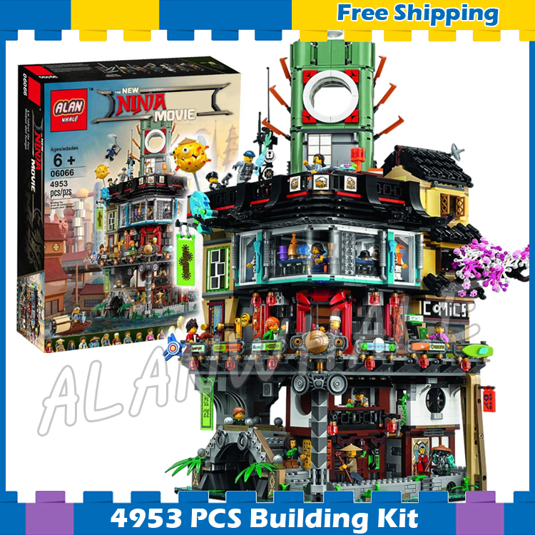 4953pcs New Ninja Great Creator City Construction Street Castle 10727 Model Modular Building Blocks Toys Compatible With Lego