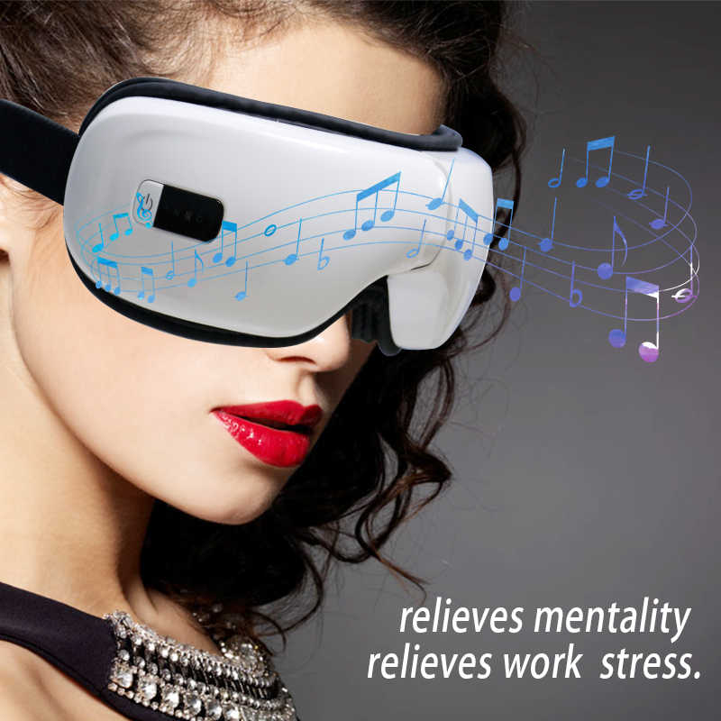 Wireless Bluetooth Music Eye Massager Anti Wrinkles Eye Massage for Tired Eye Air Compression Heated Goggles Dark Circles Remove