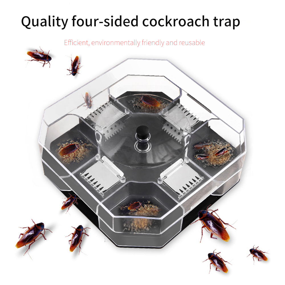 Garden Effective Cockroach Traps Box Reusable Cockroach Bug Roach Catcher Cockroach Killer Bait Traps Pesticide For Kitchen